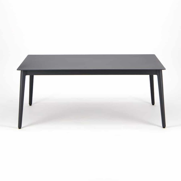 Washington Aluminum Outdoor Coffee Table Charcoal - Side View