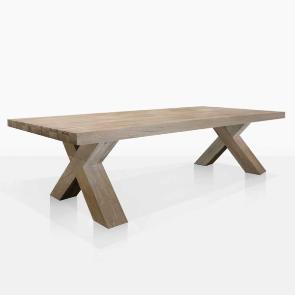 Boxx Reclaimed Teak Outdoor Dining Table - Angle View