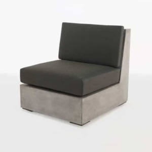 raw box outdoor concrete centre chair
