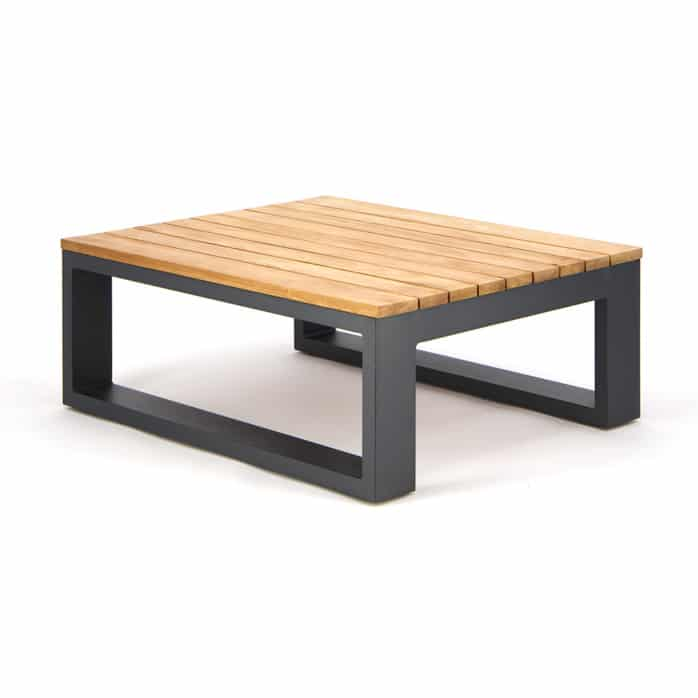 Beverly Aluminum Rectangle Side Table Charcoal