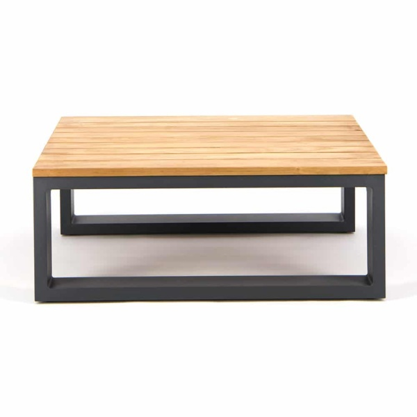 Beverly Aluminum Rectangle Side Table Charcoal - Front View