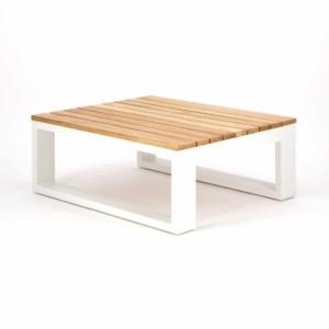 Beverly Aluminum Rectangle Side Table White
