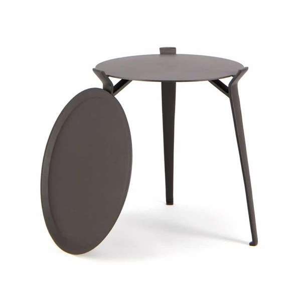 Dorsett Outdoor Accent Table with Tray Offside