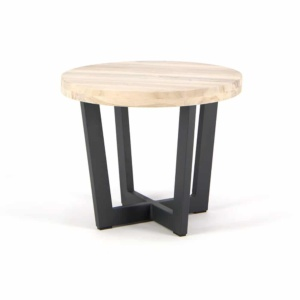 Jimmy Teak Outdoor Side Table Low