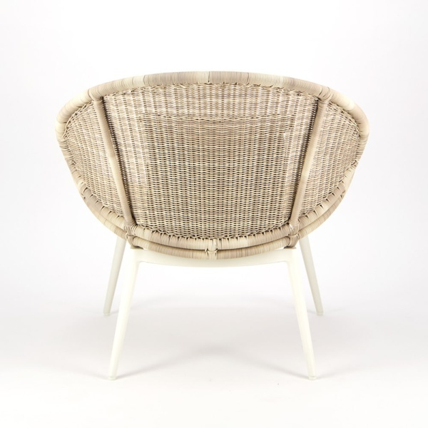 Scoop Outdoor Woven Relaxing Chair - Rear View