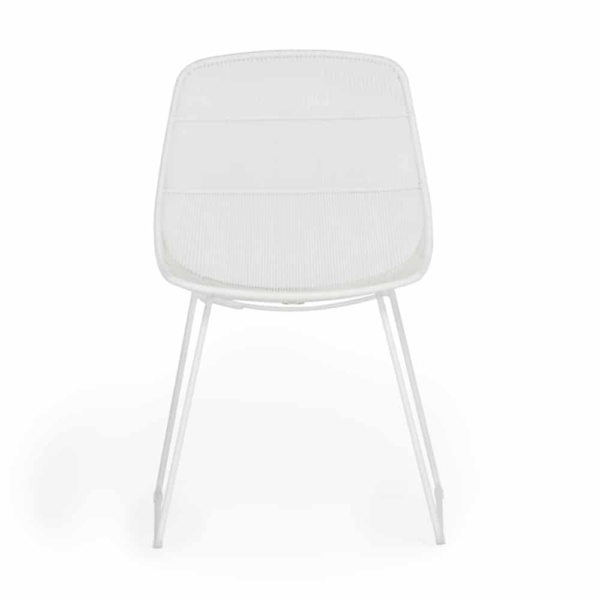 Oliver Dining Side Chair White Front View