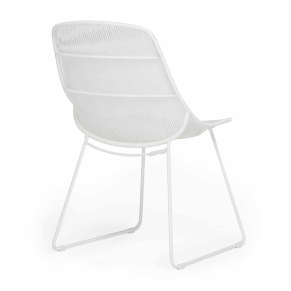 Oliver Dining Side Chair White Rear View