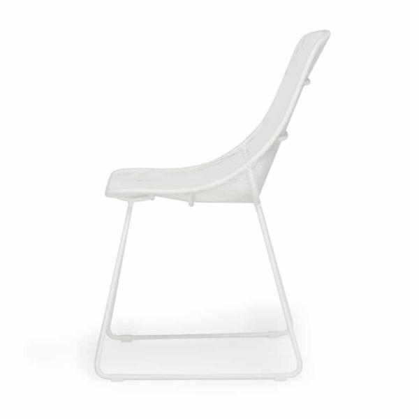 Oliver Dining Side Chair White Side View