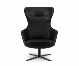 Amalfi leather executive chair in black