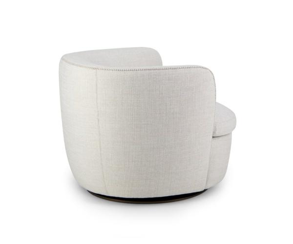Bellagio swivel armchair barbat cream - back view
