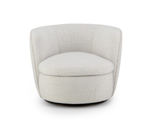 Bellagio swivel armchair barbat cream - front view