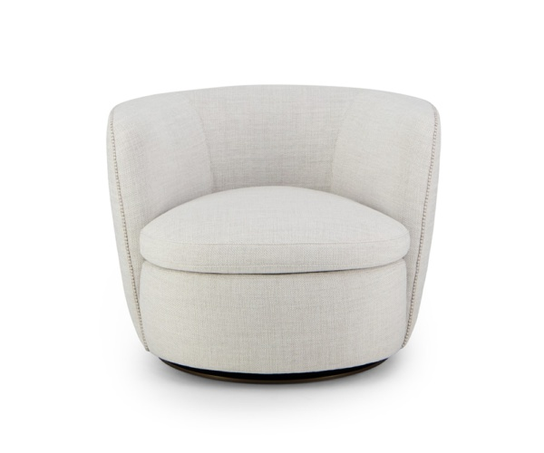 Bellagio swivel armchair barbat cream - front view