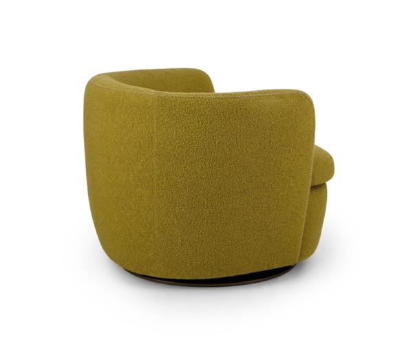 Bellagio swivel armchair perseide mustard - back view