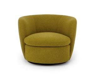 Bellagio swivel armchair perseide mustard - front view