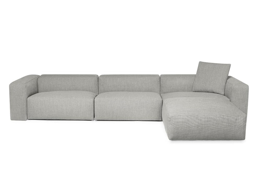 Capri sectional barbat fog - front view