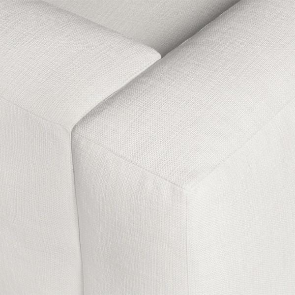 Capri sectional barbat white - closeup