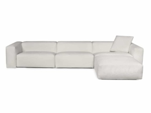 Capri sectional barbat white - front view