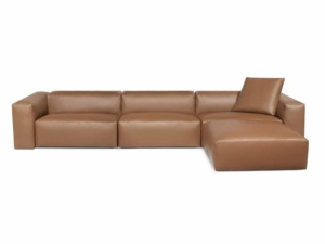 Capri sectional kalahary oak leather