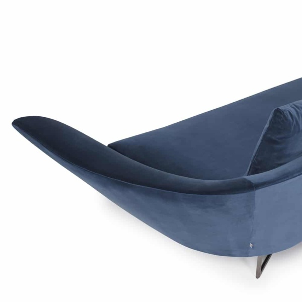 Little wing low sofa curved - left arm view