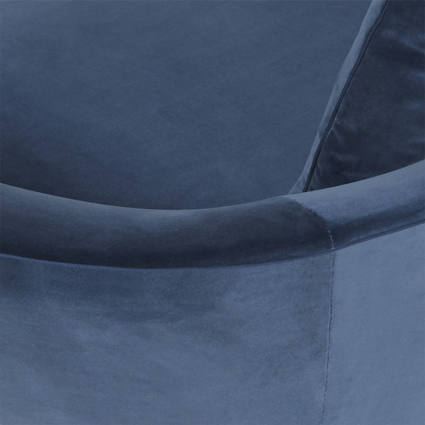 Little wing low sofa curved - left arm closeup view