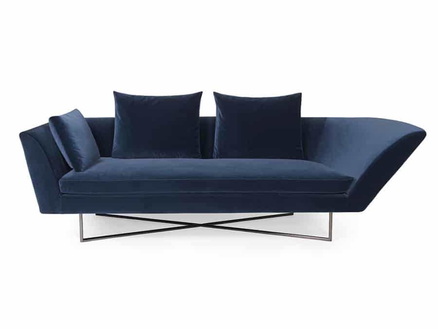 Little wing low sofa - curved arm left lario - front view