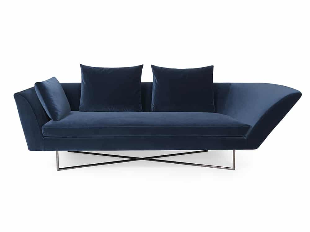 High-end indoor sofa - Little Wing Left Arm in Blue