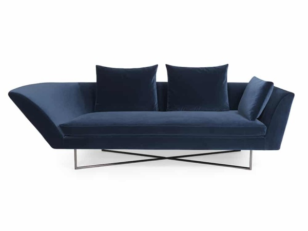 Little wing low sofa - curved right arm - front view