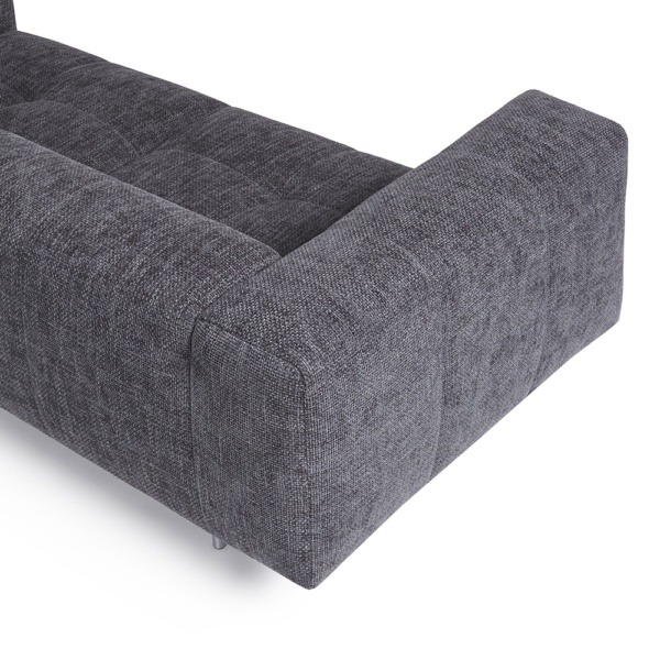 Milano sofa lucca anthracite - arm view