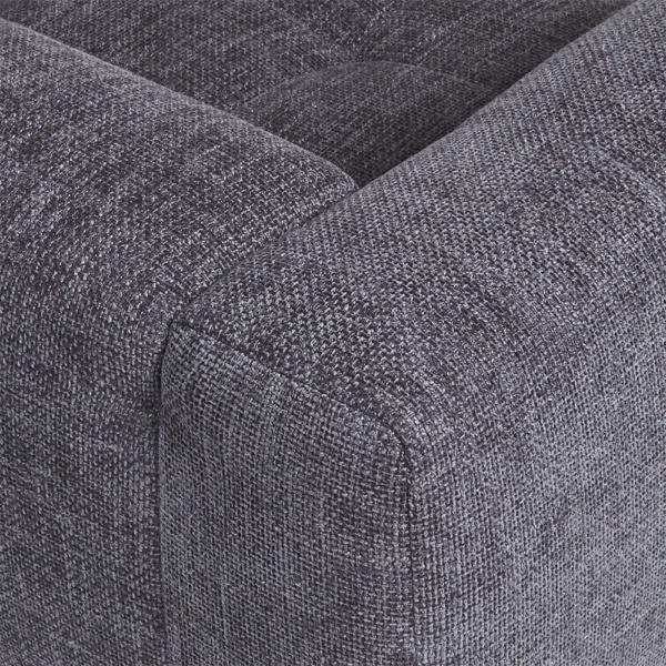 Milano sofa lucca anthracite - closeup view