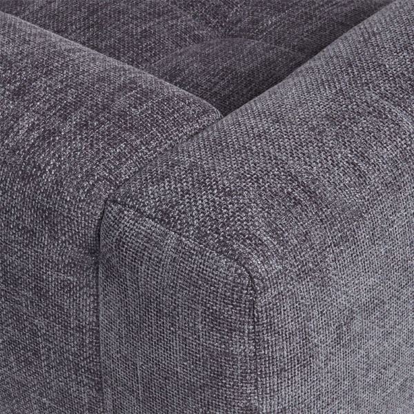 Milano sofa lucca anthracite - closeup view