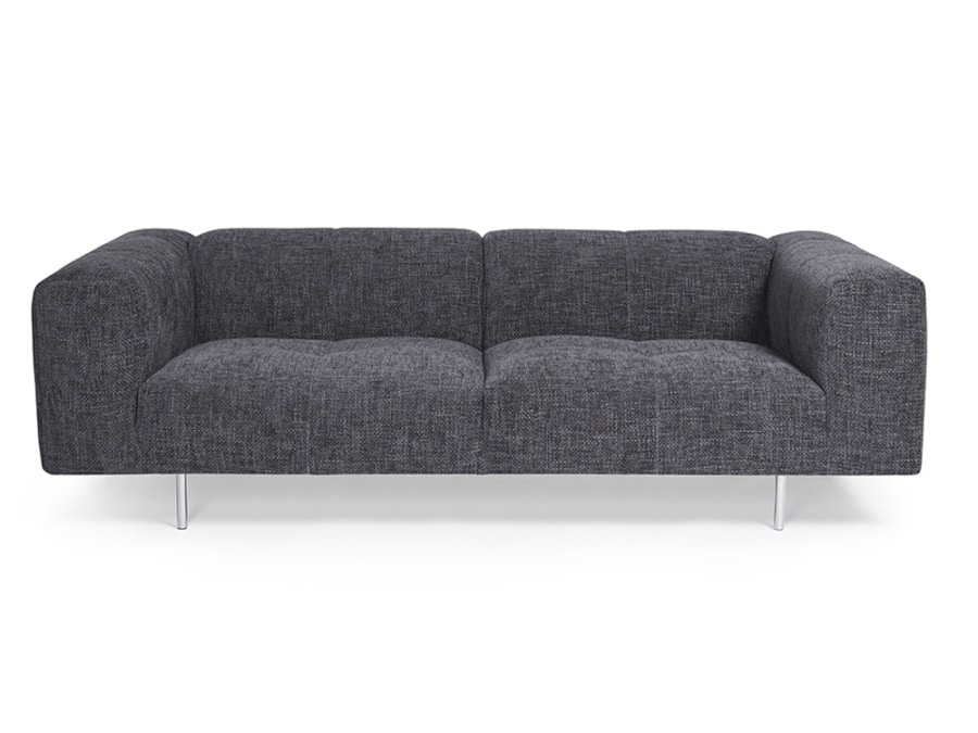 Milano luxury sofa lucca anthracite - front view