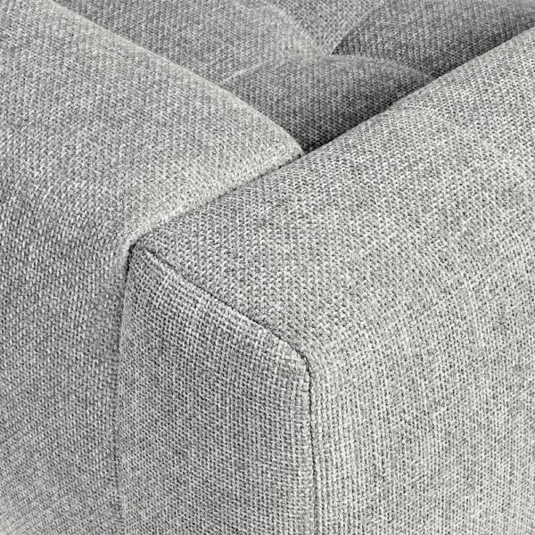 Milano sofa lucca light grey - closeup view