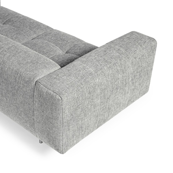 Milano sofa lucca light grey - arm view