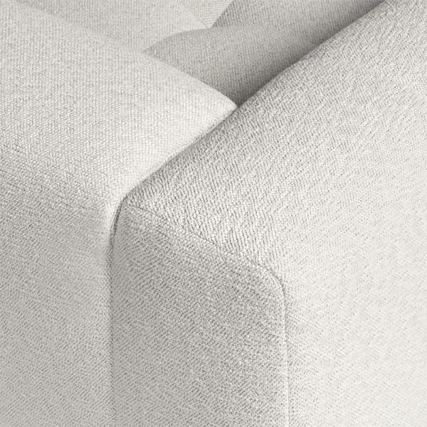 Milano sofa perseide cream - closeup view