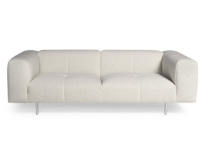 Milano sofa perseide cream colour - front view