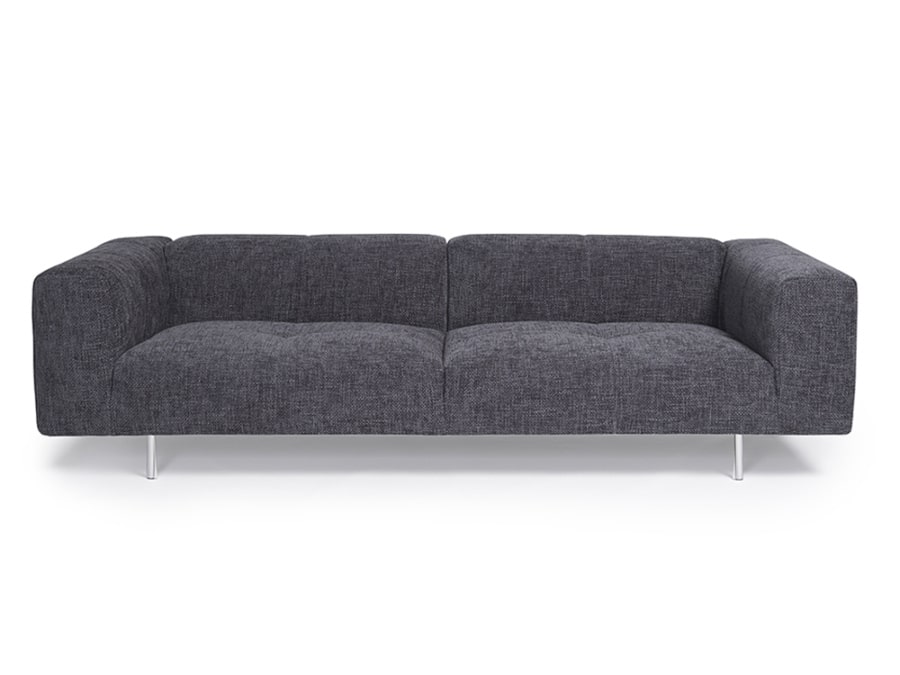 Milano sofa lucca anthracite - front view