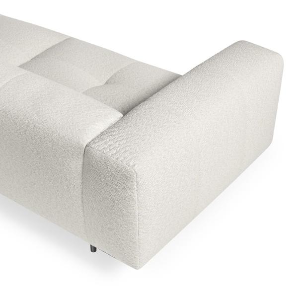 Milano sofa perseide cream - arm view