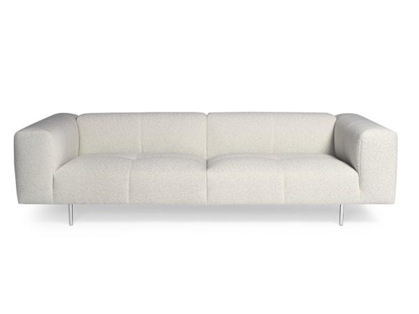 Milano sofa perseide cream colour - front view
