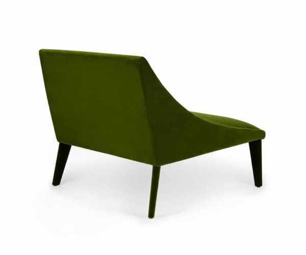 Petalo lounge chair tessuto lario - back view