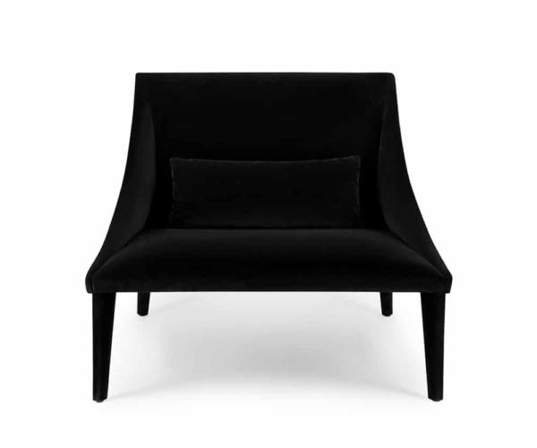 Petalo lounge chair tessuto lario - front view