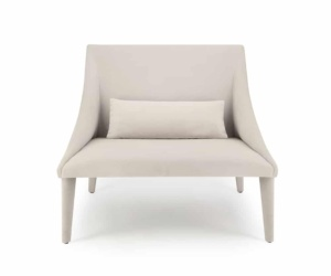 Petalo lounge chair tessuto lario - front view