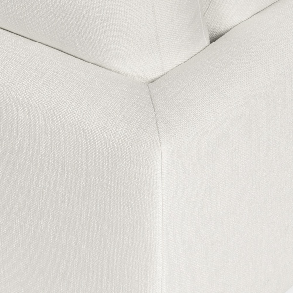 Portofino sectional barbat white - closeup view
