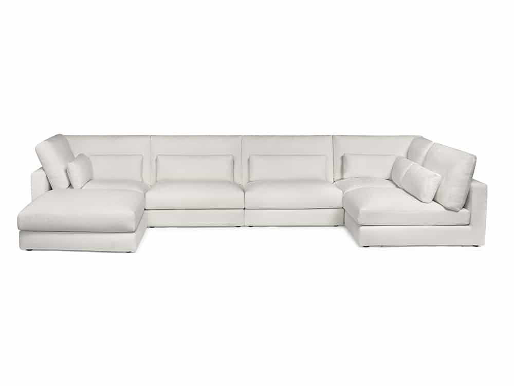 High-End Indoor Sofa Sectional - Portofino Grand in White