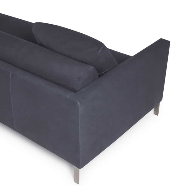 Prezioso sofa leather luxury blue - arm view