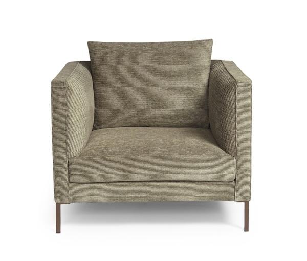 Siena armchair salina black white - front view