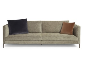 Siena sofa salina black white - front view