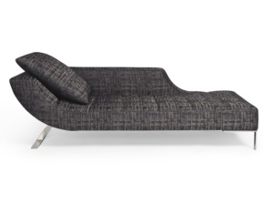 Vice versa chaise lounge fabric tessuto moderna - front view