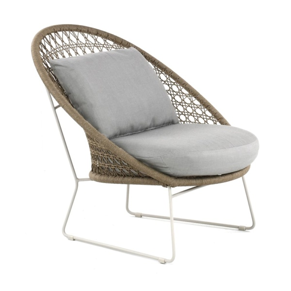 Basket Outdoor Rope Relaxing Chair Camel Angle
