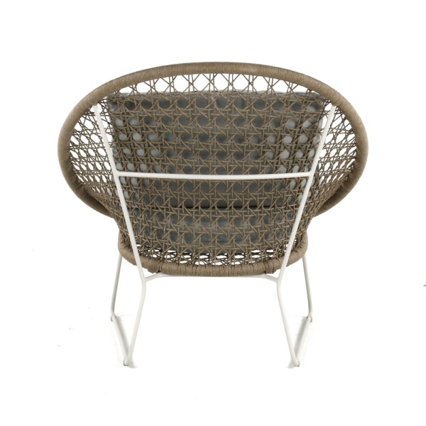 Basket Outdoor Rope Relaxing Chair Camel Back