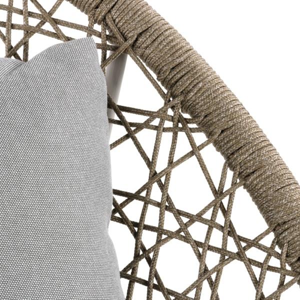 Basket Outdoor Rope Relaxing Chair Camel Closeup